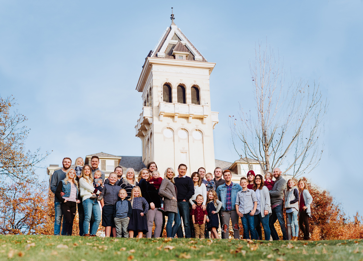 Utah State Senator Chris Wilson and his family at Utah State University