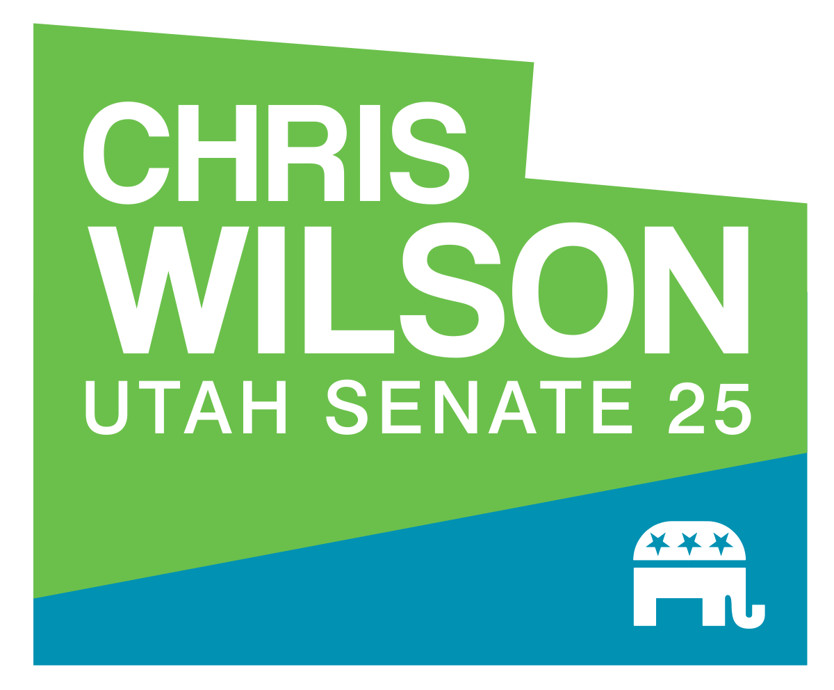 Chris Wilson Utah Senate 25 Logo